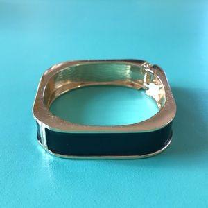 Square black and gold bracelet